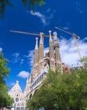 Towers of Sagrada Familia Royalty Free Stock Photo