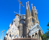 Towers of Sagrada Familia Royalty Free Stock Images