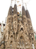 Towers of Sagrada Familia Stock Image