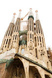 Towers of Sagrada Familia on White Royalty Free Stock Photos