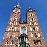 Towers of the Saint Mary Church Stock Images