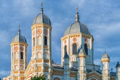 Towers of Saint Spyridon the New Church in Bucharest Royalty Free Stock Photography