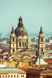 Towers of the Saint Stephen's Basilica. Budapest Royalty Free Stock Photos