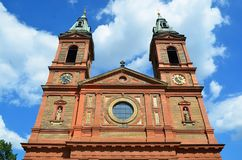 Towers of Saint Wenceslav cathedral in Prague Stock Photography