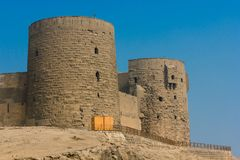 Towers of Saladin citadel in Cairo. Royalty Free Stock Photo