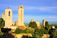 Towers of San Gimignano Royalty Free Stock Photo