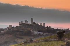 Towers of San Gimignano, Italy royalty free stock photos