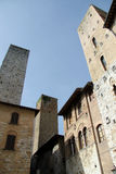 Towers San Gimignano. Towers and old buildings in San Gimignano, Italy Stock Image