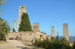 Towers of San Gimignano. The towers of San Gimignano, a small Tuscan town in Italy Stock Photo