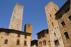 Towers in San Gimignano, Tuscany,Italy Stock Photo