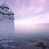 Towers on the sea. Royalty Free Stock Photo