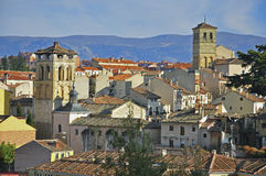 Towers of Segovia. In Spain Stock Images