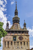 The Towers of Sighisoara, Romania royalty free stock photography