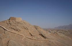 Towers of silence near Yazd, Iran. Zoroastrian towers of silence in Iran near Yazd, 2012 Royalty Free Stock Image