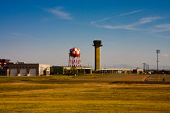 Towers at Small Airport Stock Photo