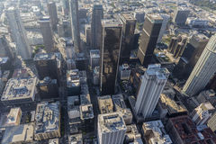 Towers in Smog Downtown Los Angeles Stock Image