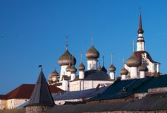 Towers of Solovetsky Monastery Royalty Free Stock Photo