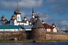 Towers of Solovetsky Monastery Stock Image