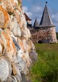Towers of Solovetsky Monastery royalty free stock photography