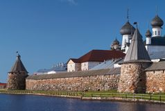 Towers of Solovetsky Monastery Stock Photography