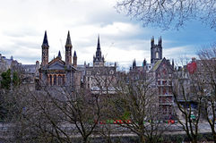 Towers and spires of Aberdeen, Scotland Stock Photos