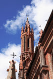 Towers of St. Ann's church reaching in to the sky Royalty Free Stock Photo