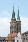 Towers of St. Sebald Church Stock Photos