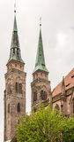 Towers of St. Sebald Church Stock Photo