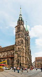Towers of St. Sebaldus Church in Nuremberg, Germany Stock Photography