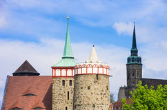 TOWERS AND STEEPLES Stock Photo