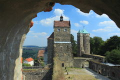 Towers of Stolpen castle Royalty Free Stock Photography