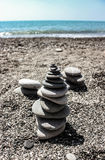 Towers of Stones Near the Sea royalty free stock photography