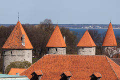 Towers of Tallinn Royalty Free Stock Images