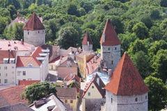 Towers of Tallinn castle Royalty Free Stock Photo