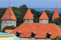 Towers in Tallinn Stock Image