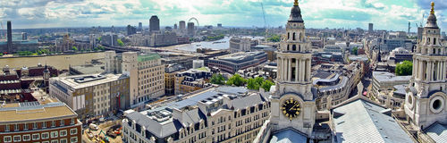 Towers and Thames Royalty Free Stock Images