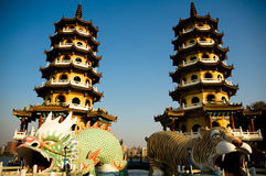 Towers of tiger and dragon Royalty Free Stock Photos