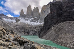 The Towers, Torres del Paine National Park, Chile. The majestic towers of the Torres del Paine National Park, Patagonia, Chile stock photo