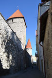 Towers of town wall in Tallinn Stock Image