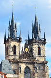 Tyn church towers architecture in Prague Royalty Free Stock Image