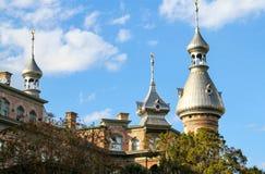 Towers at the University of Tampa. Moorish towers adorn the campus at the University of Tampa stock image