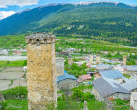 The towers in Upper Svaneti Royalty Free Stock Photos