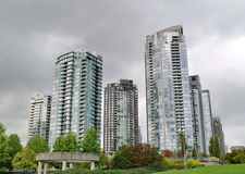Towers of Vancouver Royalty Free Stock Photography