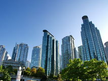 Towers of Vancouver BC Royalty Free Stock Photos
