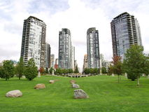 Towers of Vancouver, Canada Royalty Free Stock Photography