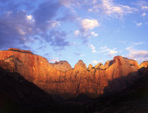 The Towers of the Virgin (H). The formation called The Towers of the Virgin in Zion National Park located in southwest Utah Royalty Free Stock Photos