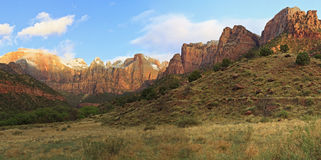 Towers of the Virgin Morning Panorama Royalty Free Stock Photography