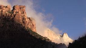 Towers of the Virgin Sunrise Zion National Park stock video footage