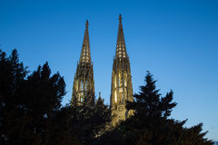 Towers on the Votive Church in Vienna Royalty Free Stock Image