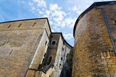Towers and wall of Sedan castle, France Stock Photography